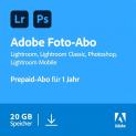 Adobe Creative Cloud Photography Plan 20GB 1 Jahr