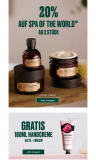 Body Shop: 20% Rabatt auf Linie Spa of the World