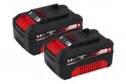 Einhell PXC Power-X-Change Twinpack 2×4.0 Ah (Abholung, Bestpreis*, +500/1000 Superpunkte)