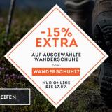 Nur heute: 15% auf ausgewählte Wanderschuhe bei SportScheck, z.B. The North Face Ultra Fastpack II GTX Wanderschuhe Herren für CHF 102.81 statt CHF 120.95