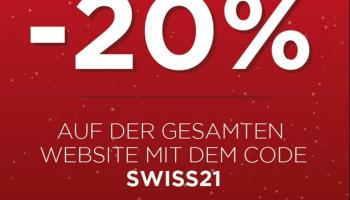 20% Rabatt auf alles bei KissKiss.ch (bis 03.08.)