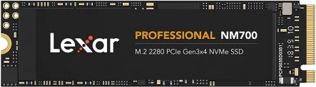 Lexar Professional NM700 M.2 2280 PCIe Gen3x4 NVMe 512GB interne SSD bei Amazon