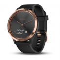 Garmin Sportuhr + Smartwatch vivomove HR (43mm, Polymer, Silikon, Rose Gold / Black) bei Amazon.de