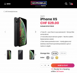 Apple iPhone XS 64 GB Space Gray für CHF 629.- auf 123mobile.ch