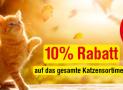 Qualipet: Bis zu 40% Rabatt auf ausgewählte Artikel für Katzen + 10% Rabatt auf das ganze Katzen-Sortiment