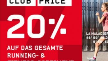 20% auf das gesamte Running- & Fitness-Sortiment, Ochsner Sport Club Price