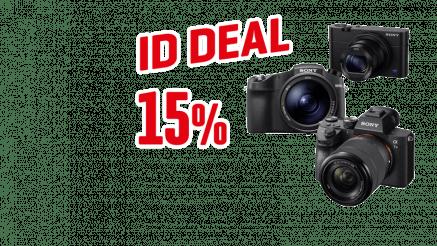 15% Rabatt auf Sony System- und Kompaktkameras bei interdiscount