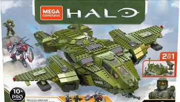 Mega Construx GNB28 – Halo Infinite 2-in-1 UNSC Pelican-Flugschiff Bauset mit 3 Figuren (2024 Teile) bei amazon.es