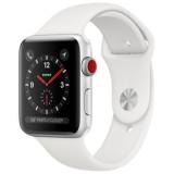 APPLE Watch Series 3 GPS + Cellular, 42mm Aluminiumgehäuse, Silber mit Sportarmband, Weiss bei digitec für 292.- CHF