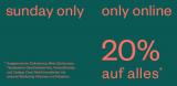 Diesen Sonntag 20% auf (fast) das ganze Sortiment im Globus Online Shop