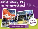 Hello Family Day im Verkehrshaus (50% Rabatt am 3. Oktober 2021 für Hello Family Clubmitglieder)