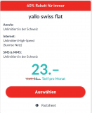 60% Rabatt auf Yallo swiss falt und yallo superfat xxl