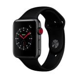 APPLE Watch Series 3 GPS + Cellular, 42mm, Space Grau mit Sportarmband (Schwarz) bei microspot