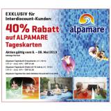 40% Rabatt auf ALPAMARE Tageskarten bei Interdiscount