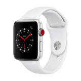 APPLE Watch Series 3 GPS + Cellular, 42mm Aluminiumgehäuse, Silber mit Sportarmband, Weiss bei interdiscount