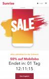 50% Rabatt auf Sunrise-Mobileabo (unter 30)