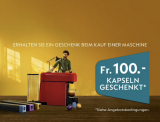 100.- Nespresso Kapseln geschenkt
