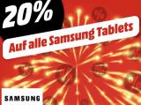 20% auf alle Samsung Tablets bei Mediamarkt