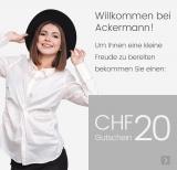 CHF 20.- Gutschein bei Ackermann (MBW: 80.-)