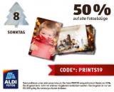 Nur heute: 50 % auf Fotoabzüge bei Aldi Foto