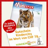 Gratis Kindercity (ZH, Volketswil) Gutschein zu jedem MiniSPICK Abo