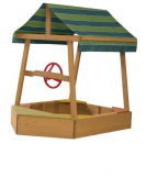Sandkasten für Kids als Schiff