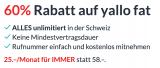 60% Rabatt auf Yallo Swiss Flat