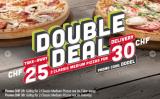 Zwei Pizzas für 25.- zum Mitnehmen oder 30.- geliefert bei Telepizza