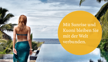 150.- Gutschein Kuoni (offeriert von Sunrise) MBW 2000.-