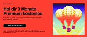 Spotify 3 Monate gratis für Neuabonnenten