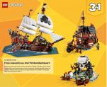 Lego Bestpreis 58.53 CHF für LEGO 31109 Creator 3-in-1 Piratenschiff bei Amazon