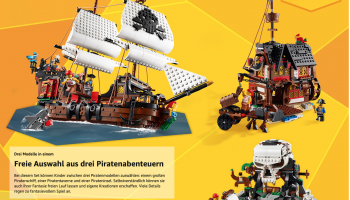 Lego Bestpreis 58.53 CHF für LEGO 31109 Creator 3-in-1 Piratenschiff bei Amazon