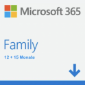 Microsoft 365 Family 12+15 Monate Plus 3 Monate (Promo) / 30 Monate Total