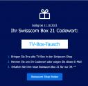 [Abholung] TV-Box Tausch Aktion bei Swisscom
