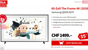 Samsung THE FRAME  65″ zu CHF 1'499.–