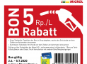 5 Rp./L Rabatt Migrol schweizweit