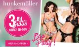 Bra Party bei Hunkemöller: 3. BH gratis oder 50% auf den 2. BH