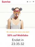 50% Rabatt Sunrise Mobileabo; noch knapp 24Stunden (diesmal ohne Altersbeschränkung)