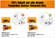 20% Rabatt auf devolo Powerline Starter-/Network Kits bei melectronics