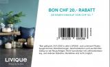 Livique: 30% auf Wohnaccessoires kombinierbar mit diversen Livique (ex TopTip) Gutscheinen: 50.- ab 150.- // 20.- ab 50.- // 20% auf alles !