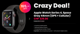 Apple Watch Series 4, Space Gray 44mm (GPS + Cellular) bei 123mobile