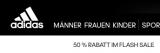 Adidas: 50 % Rabatt auf Outlet-Artikel !