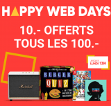 Happy Web Days: 10.- Rabatt pro 100.- bei Fnac.ch