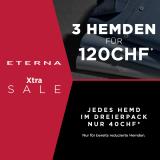 ETERNA Xtra Sale:  3 Hemden für CHF 120.-