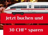 CHF 30 Rabatt für die Bahnreise nach Deutschland