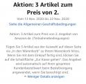 Aktion bei Amazon: 3 Artikel zum Preis von 2.