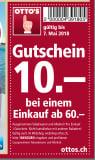 Ottos CHF 10.- ab 60.-