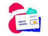 Weihnachtsrabatt (bis zu 50%) auf Jahresabos bei Digital Republic (Daten SIM-Karten)