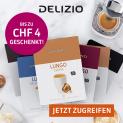 Delizio: CHF 2.- auf 48 / CHF 4.- auf 96 Kapseln