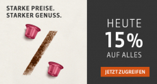 Delizio – Überraschung zum Weltspartag: 15% auf alles!